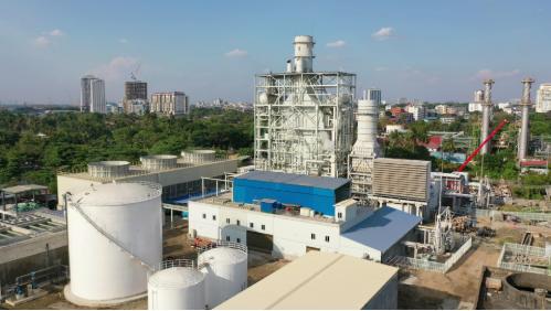 中国能建湖南院总承包建设缅甸Ahlone燃机电厂投产